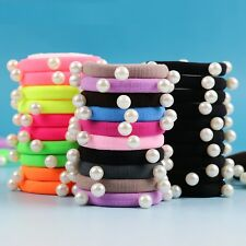 Colored Hair Holders Pearl Rubber Bands Candy Fluorescence 10 PCS/lot Elastics