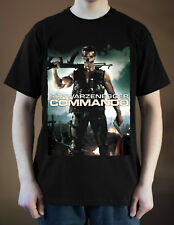 COMMANDO Movie Poster ver. 2 Arnold Schwarzenegger T-Shirt (Black) S-5XL