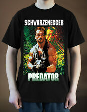 PREDATOR Movie Poster ver. 1 Arnold Schwarzenegger T-Shirt (Black) S-5XL