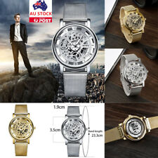 Fashion Men Link Bracelet Band Watch Stainless Steel Analog Quartz Wrist Watch