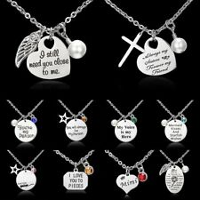 Fashion Stainless Steel Love you Mom Pendant Necklace Family Charm Jewellery New