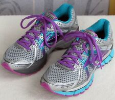 7.5 Wide | Brooks GTS 17 Women Purple Silver Running Athletic Training Sneaker