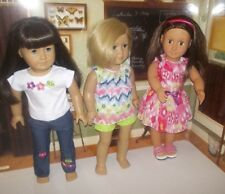 """Spring/ Summer Doll clothes lot  fits 18""""American Girl doll dress shoes shorts"""