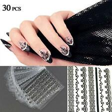30pcs 3D Nail Art Manicure Tips Stickers Decals DIY Flower Design Decoration #Q