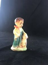 Occupied Japan Figurine of boy in overalls with a lamb. Marked T-1357 on base.