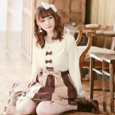 Pink Chiffon Long Sleeve Shirt Lace Cute Bowknot Lolita Blouse For Women Tops