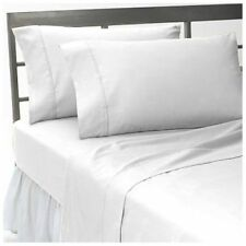 All US Sizes Bedding Items 1000TC Soft Egyptian Cotton White Solid