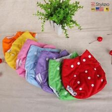 Reusable Baby Cloth Nappies Infant Nappy Diaper Soft Cover Washable Size Adjusta