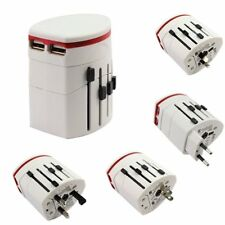 Universal Plug Power Travel Adapter World AU/US/UK/EU AC 2 USB Charger MB