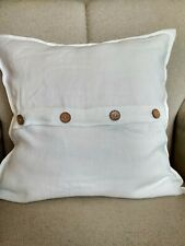 LINEN PILLOWCASE with Buttons in middle King Queen Standard PILLOW CASE COVER