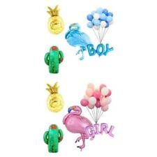 MagiDeal Hawaiian Flamingo Boy Girl Pineapple Cactus Balloons Baby Shower Decor