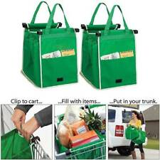 Shopping Bag Supermarket Foldable Eco-friendly Tote Bags Reusable Large Capacity