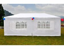 Canopy Tent 10x20 Heavy Duty Gazebo Outdoor Six Sides Waterproof White Party