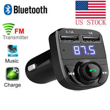 Bluetooth FM Transmitter Wireless Radio Adapter USB Car Mp3 Player Charger PU