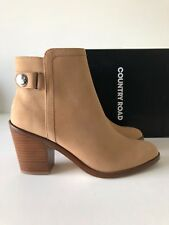 # Country Road #  kim heeled leather boots tan - size: 39 -
