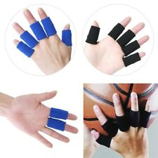 10 X Stretchy Finger Protector Sleeve Support Arthritis Sport Aid Straight Wrap