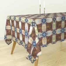 Tablecloth Cathedral Church Religious Christian Mirrored Cotton Sateen