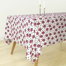 Tablecloth Strawberry Summer Strawberries Pink Fruit Fruits Cotton Sateen