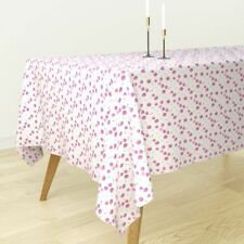 Tablecloth Pink Strawberry Strawberries Fruit Summer Watercolors Cotton Sateen