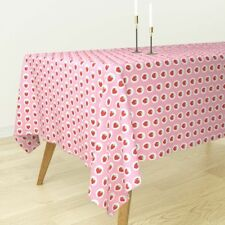 Tablecloth Strawberry Strawberries Pink Fruit Fruits Summer Cotton Sateen