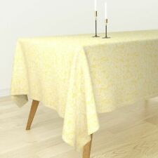 Tablecloth Lace Yellow Yellow Lace Easter Cotton Sateen