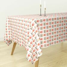 Tablecloth Burger Hamburger Cheeseburger French Fries Fast Food Cotton Sateen