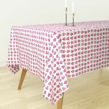 Tablecloth Watercolor Summer Fruit Fruit Fabric Strawberries Cotton Sateen