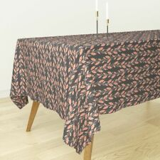 Tablecloth Floral Vine Leaves Nature Colorful Flowers Leaf Cotton Sateen