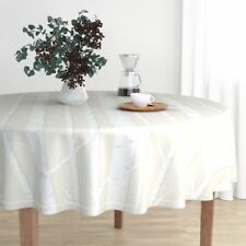Round Tablecloth Birch Grove Birch Trees Forest Woods Forest Woods Cotton Sateen