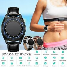 Bluetooth Smart Watch Heart Rate Blood Pressure Monitor Pedometer with Camera