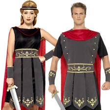 Roman Soldier Gladiator Adult Fancy Dress Ancient Greek Rome Warrior Costume New