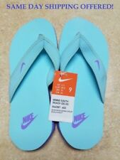 NEW NIKE CELSO SOUTH BEACH GLACIER ICE/ATOMIC VIOLET THONG FLIP FLOP WOMEN SZ 9