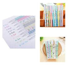 10x Cute Colorful Gel Pen Set Stationery For Writing Office School Supplies