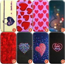 Hearts Wallet Flexible Phone Case for iPhone | Paris Vibes Heart Cute