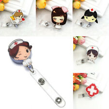 Badge Reel Nurse Exihibiton ID Name Card Retractable Badge Holder School Supply