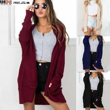Women Cardigan Loose Sweater Long Sleeve Knitted Oversize Outwear Jacket Coat