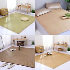 Folding Natural Rattan Mat Summer Floor Mat Cool Sleeping Mat Area Rug S-XL