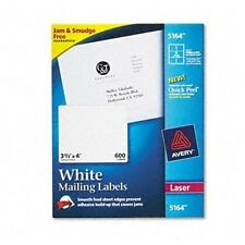 AVERY LASER LABELS FOR SHIPPING 5164 NEW SEALED 100 6 PER SHEET 3.5 x 4