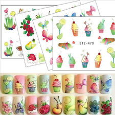 3D Nail Art Fruit Ice Cream Nail Sticker Decal Water Transfer Manicure Craft