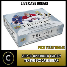 2017-18 UPPER DECK TRILOGY 10 (TEN) BOX FULL CASE BREAK #H005 - PICK YOUR TEAM -