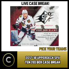 2017-18 UPPER DECK SPX 10 (TEN) BOX FULL CASE BREAK #H007 - PICK YOUR TEAM -