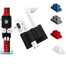 AirPods Silicone Protective Holder Apple Watch Band Shockproof Anti Lost Case