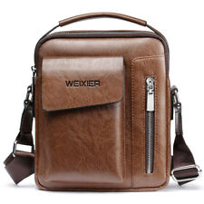 Men's Leather Briefcase Messenger Satchel Bags Cross body Handbag Shoulder Bag