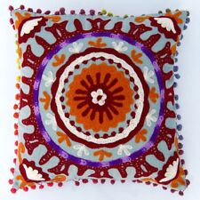 "embroidered vintage cotton handmade suzani pillow case 16""suzani cushion cover"
