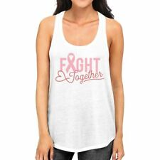 Fight Together Breast Cancer Awareness Womens White Tank Top