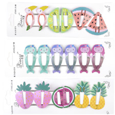 6PCS/Pack Girls baby Hair Clips Snaps Hairpin Girls Baby Kids Hair Bow Accessory