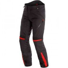 Dainese Tempest 2 D-Dry Black Black Tour Red Motorcycle Pants - New! Free P&P!
