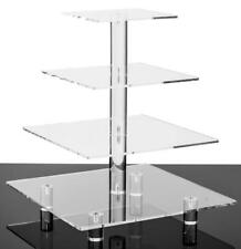 Jusalpha 4 Tier Square Acrylic Cupcake Tower Stand-Cake Stand-Dessert Stand-Cupc