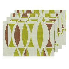 Cloth Placemats Plain Vintage Green Herb Earth Abstract Brown Set of 4