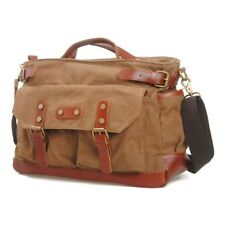 Vintage Mens Genuine Leather Messenger Shoulder Bag Satchel Cross Body Sling Bag